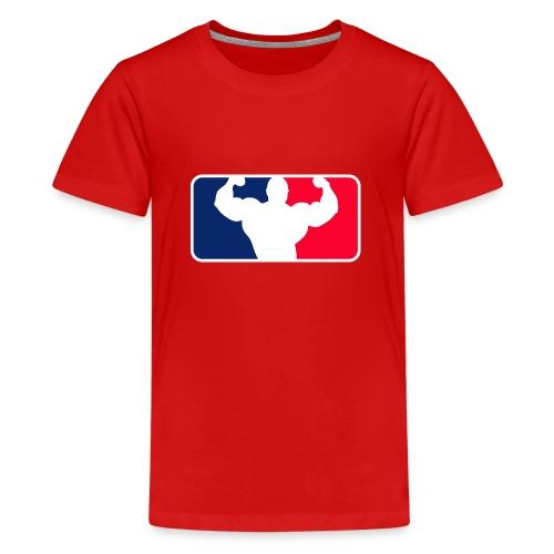Bodybuilding Logo Im League-style - Teenager Premium T-Shirt