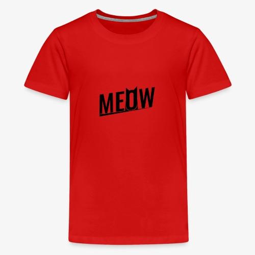 Meow black - Koszulka młodzieżowa Premium