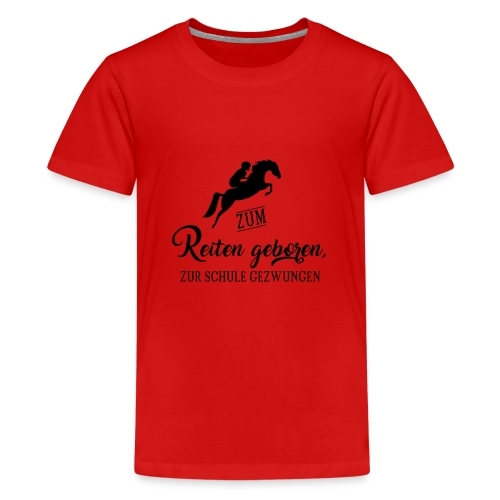 Cooles Reiten Design - Teenager Premium T-Shirt