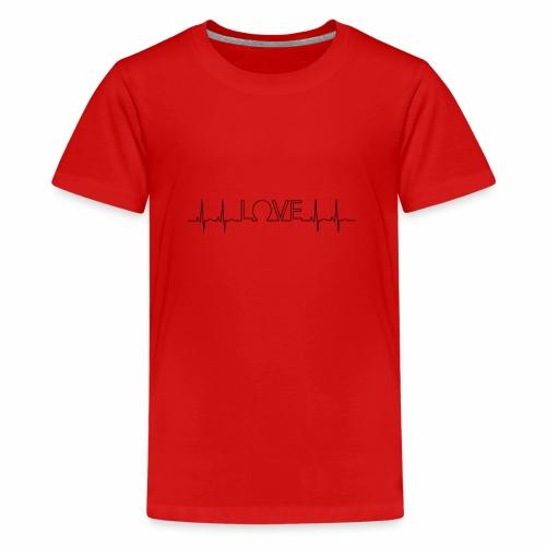 Liebe Herzschlag - Teenager Premium T-Shirt