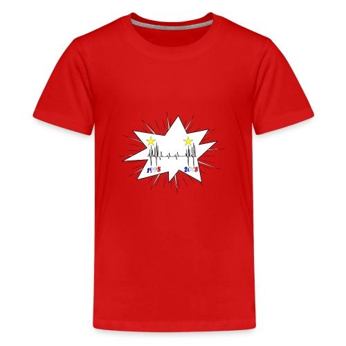 coupe du monde 2018 électrocardiogramme les bleus - T-shirt Premium Ado