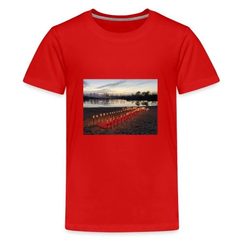 hochzeitsantrag am See - Teenager Premium T-Shirt