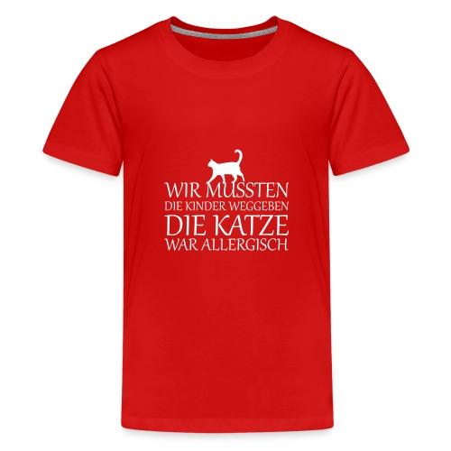Katze Katzen Haustier Miau Geschenk - Teenager Premium T-Shirt