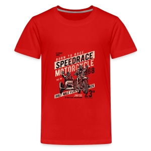 1968 SPEEDRACE - Motorrad Motorcycle Biker Shirt - Teenager Premium T-Shirt