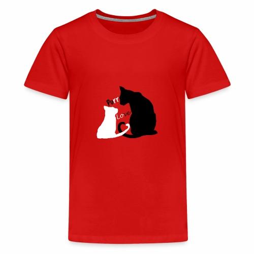 purr love - Teenager Premium T-Shirt