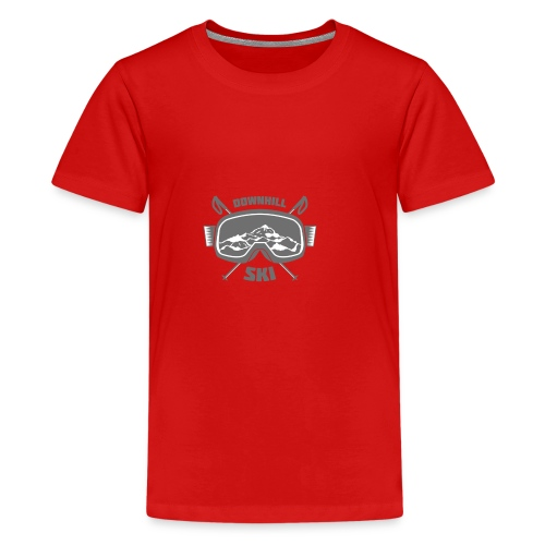Downhill Ski - Teenage Premium T-Shirt