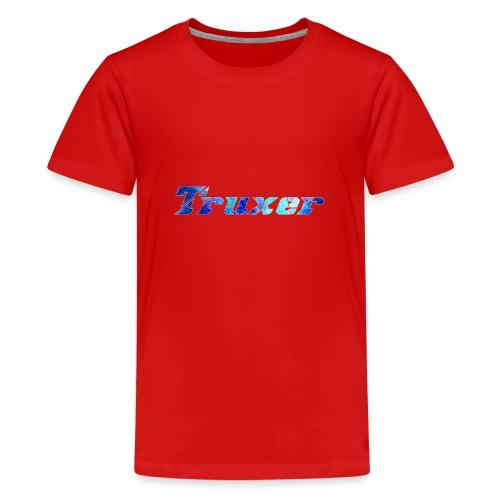 Truxer Name with Sick Blue - Teenage Premium T-Shirt