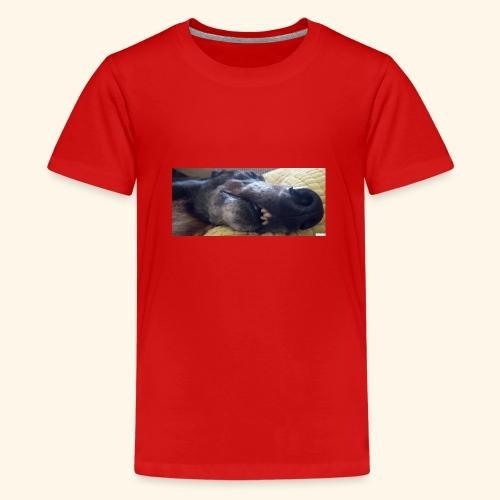 Greyhound head - Teenage Premium T-Shirt