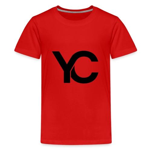 YC Black Logo - Teenage Premium T-Shirt