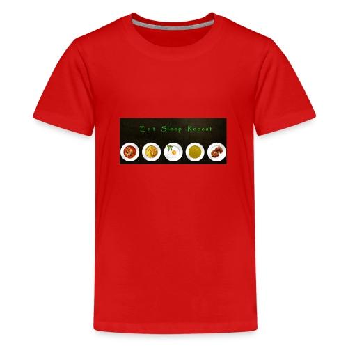 Essen, Schlafen und wiederholen - Teenager Premium T-Shirt