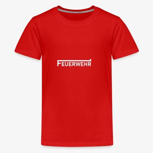 Feuerwehr Schriftzug weiss - Teenager Premium T-Shirt