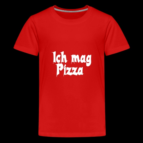 Pizza Logo white - Teenager Premium T-Shirt