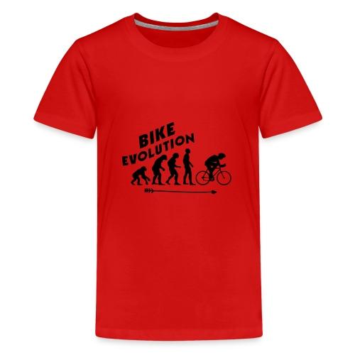 Bike Evolution (BLACK) - Teenager Premium T-Shirt