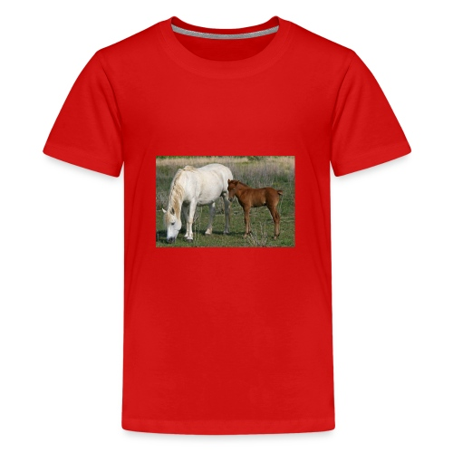 poulain sa mere - T-shirt Premium Ado