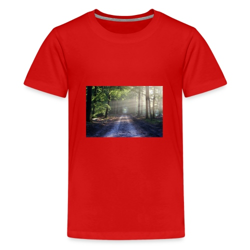 Super Ausblick im Wald Design - Teenager Premium T-Shirt