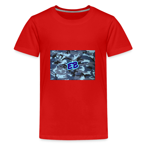 Ellibradyoffical blue camo - Teenage Premium T-Shirt