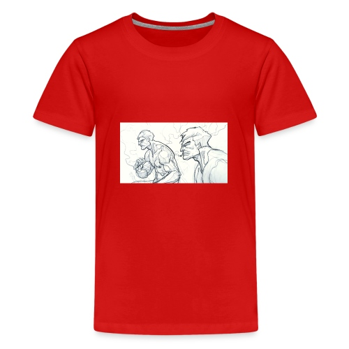 Drawing_1-jpg - Teenage Premium T-Shirt