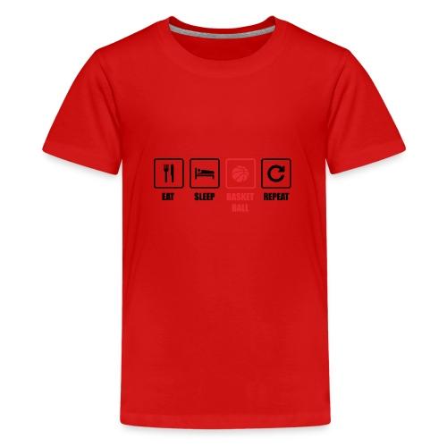 Basketballer. Basketballmannschaft. Geschenk - Teenager Premium T-Shirt