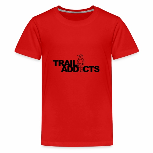 Trail addicts ZWART - Camiseta premium adolescente