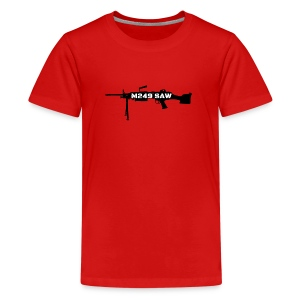 M249 SAW light machinegun design - Teenager Premium T-shirt
