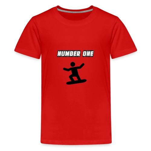 Number One Snowboarder - Teenage Premium T-Shirt
