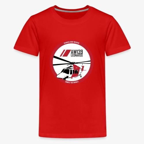 AW139 SAR Diseño Frontal - Camiseta premium adolescente