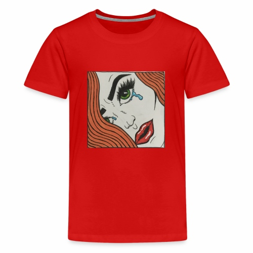 POP Art Lady-close up - Teenage Premium T-Shirt