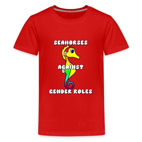 Seahorses against gender roles - Teenage Premium T-Shirt