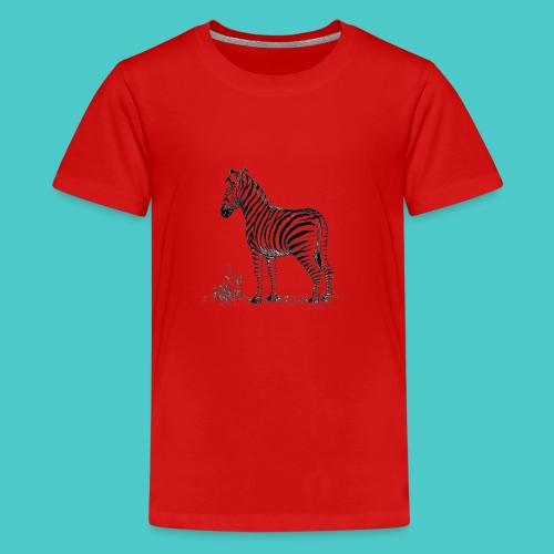 Cebra - Camiseta premium adolescente