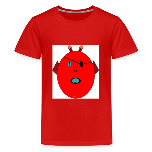 The red monster - Premium-T-shirt tonåring