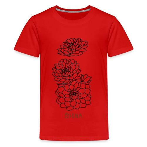 qisha blumen abstrakt - Teenager Premium T-Shirt