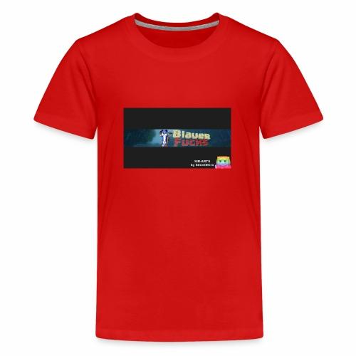 Minecraft Banner / BlauerFuchs - Teenager Premium T-Shirt