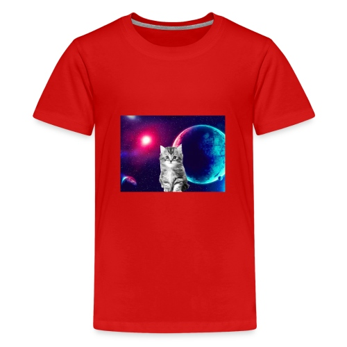 Cute cat in space - Teinien premium t-paita