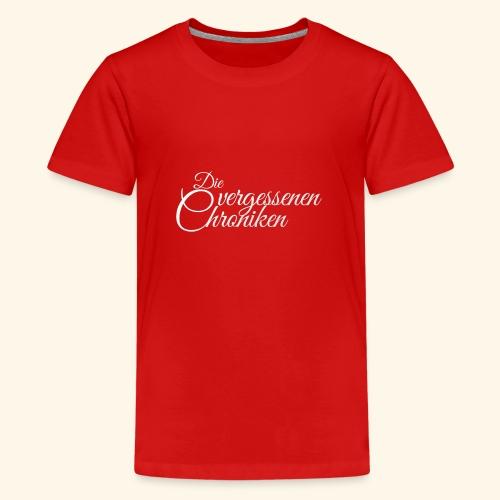 Die vergessenen Chroniken Logo (weiß) - Teenager Premium T-Shirt