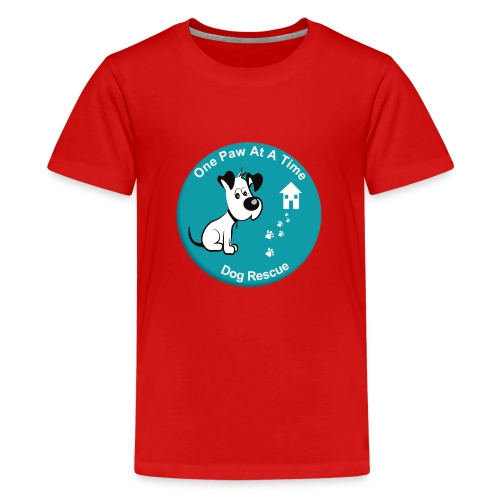 One Paw at a Time Logo - Teenage Premium T-Shirt