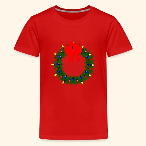 The christmas wreath - Teenage Premium T-Shirt