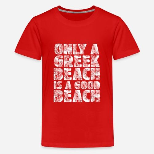 BEACH white - Teenager Premium T-Shirt