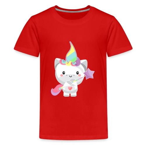 EINHORN UNICORN /Grafik Druck/Print - Teenager Premium T-Shirt