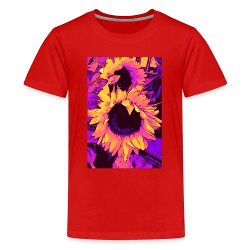 Funky Sunflower - Sonnenblumen / welikeflowers - Teenager Premium T-Shirt