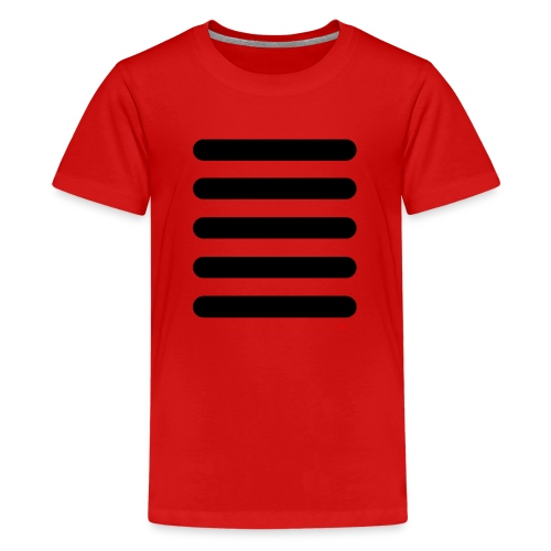 Streifen Schwarz Weiß - Teenager Premium T-Shirt