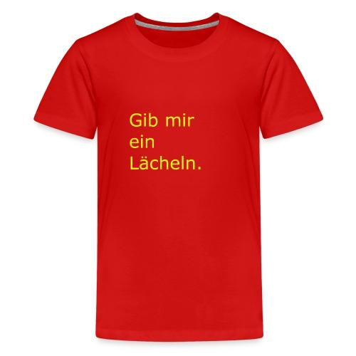 Lächeln - Teenager Premium T-Shirt