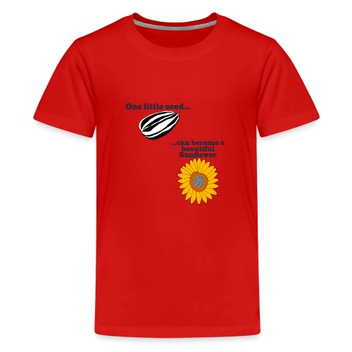 One little seed - Teenage Premium T-Shirt