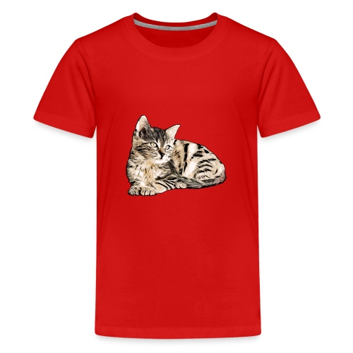 Süße Katze - GOutside - Teenager Premium T-Shirt