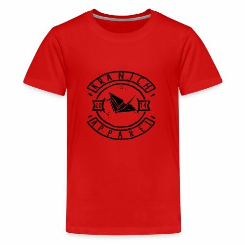 kranich Apparel Black - Teenager Premium T-Shirt