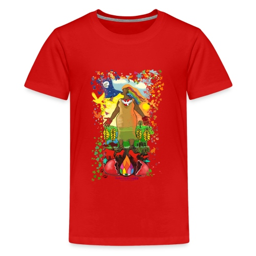 Mother Earth Creating - Teenager Premium T-shirt
