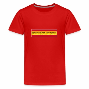 Christopher Columbus Spoke Spanish! - Teenage Premium T-Shirt