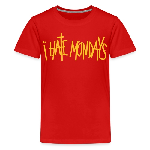 Lundi, je déteste lundi - T-shirt Premium Ado