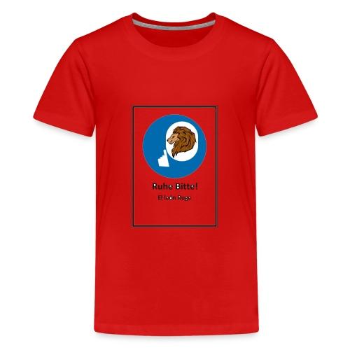 el leon ruge- ruhe bitte - Camiseta premium adolescente