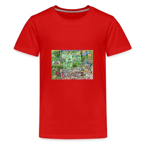 Staycation Live map - Teenage Premium T-Shirt