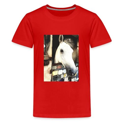 wit paard - Teenager Premium T-shirt